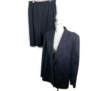 Vtg Pendleton Sz 18 Suit 100% Wool Charcoal Gray